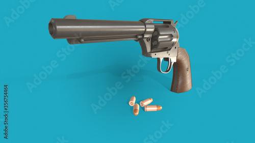 Fotografia, Obraz 3d illustration gun