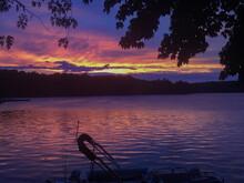 Purple Sunset On The Lake
