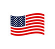 July 4th Independence day. USA national holiday design concept with a flag. USA flag Vector illustration.