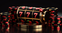 Black Red And Golden Slot Mach...