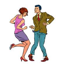 Couple Dancing Retro Dance