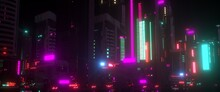 Night City Lights. Neon Urban ...