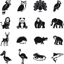 Animal Icon, Figures Of Wild A...