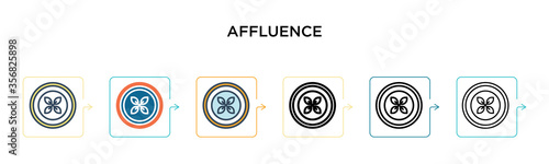Photo Affluence vector icon in 6 different modern styles
