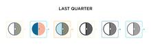 Last Quarter Vector Icon In 6 ...