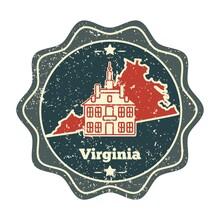Virginia Map Label