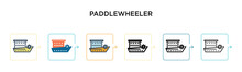 Paddlewheeler Vector Icon In 6...
