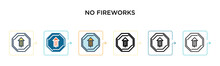 No Fireworks Vector Icon In 6 ...
