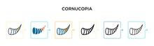 Cornucopia Vector Icon In 6 Di...