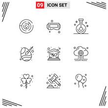 Outline Pack Of 9 Universal Sy...