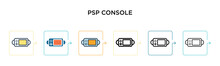 Psp Console Vector Icon In 6 D...