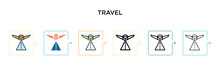 Travel Vector Icon In 6 Differ...