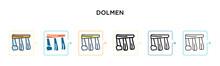 Dolmen Vector Icon In 6 Differ...