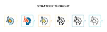 Strategy Thought Vector Icon I...