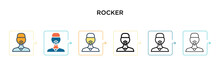 Rocker Vector Icon In 6 Differ...