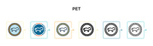Pet Vector Icon In 6 Different...