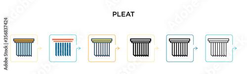 Pleat vector icon in 6 different modern styles Tapéta, Fotótapéta