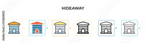 Hideaway vector icon in 6 different modern styles Wallpaper Mural