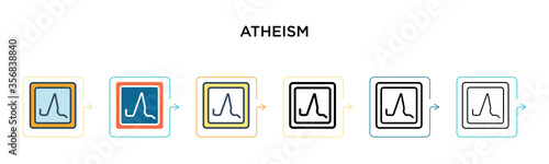 Atheism vector icon in 6 different modern styles Canvas Print