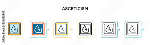 Asceticism vector icon in 6 different modern styles Canvas Print