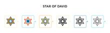 Star Of David Vector Icon In 6...