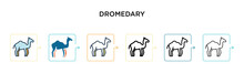 Dromedary Vector Icon In 6 Dif...