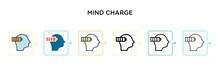 Mind Charge Vector Icon In 6 D...