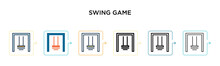 Swing Game Vector Icon In 6 Di...