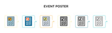 Event Poster Vector Icon In 6 ...