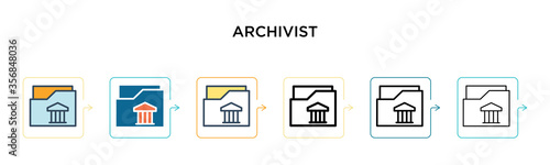Photo Archivist vector icon in 6 different modern styles