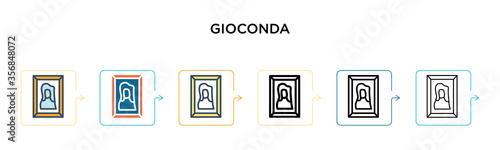 Obraz na plátně Gioconda vector icon in 6 different modern styles
