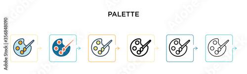 Fotografia Palette vector icon in 6 different modern styles