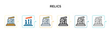 Relics Vector Icon In 6 Differ...