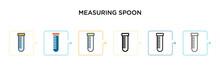 Measuring Spoon Vector Icon In...