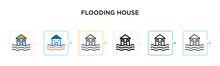 Flooding House Vector Icon In ...