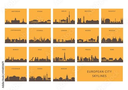 Fototapeta european city skylines obraz