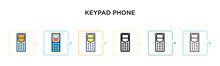 Keypad Phone Vector Icon In 6 ...