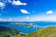 亀老山展望台より来島海峡大橋と瀬戸内海の島々