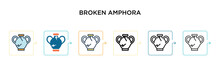 Broken Amphora Vector Icon In ...