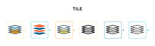 Tile Vector Icon In 6 Differen...