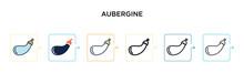 Aubergine Vector Icon In 6 Dif...