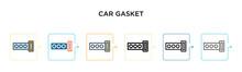 Car Gasket Vector Icon In 6 Di...