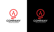 Creative Light Bulb Lamp Logo....