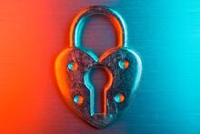 Heart Padlock Neon Love
