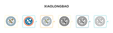 Xiaolongbao Vector Icon In 6 Different Modern Styles. Black, Two Colored Xiaolongbao Icons Designed In Filled, Outline, Line And Stroke Style. Vector Illustration Can Be Used For Web, Mobile, Ui