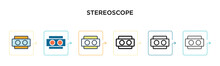 Stereoscope Vector Icon In 6 D...