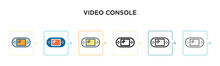 Video Console Vector Icon In 6...