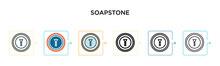 Soapstone Vector Icon In 6 Dif...