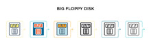 Big Floppy Disk Vector Icon In...