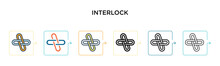 Interlock Vector Icon In 6 Dif...